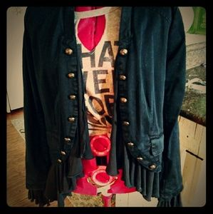 Free People Peplum band jacket